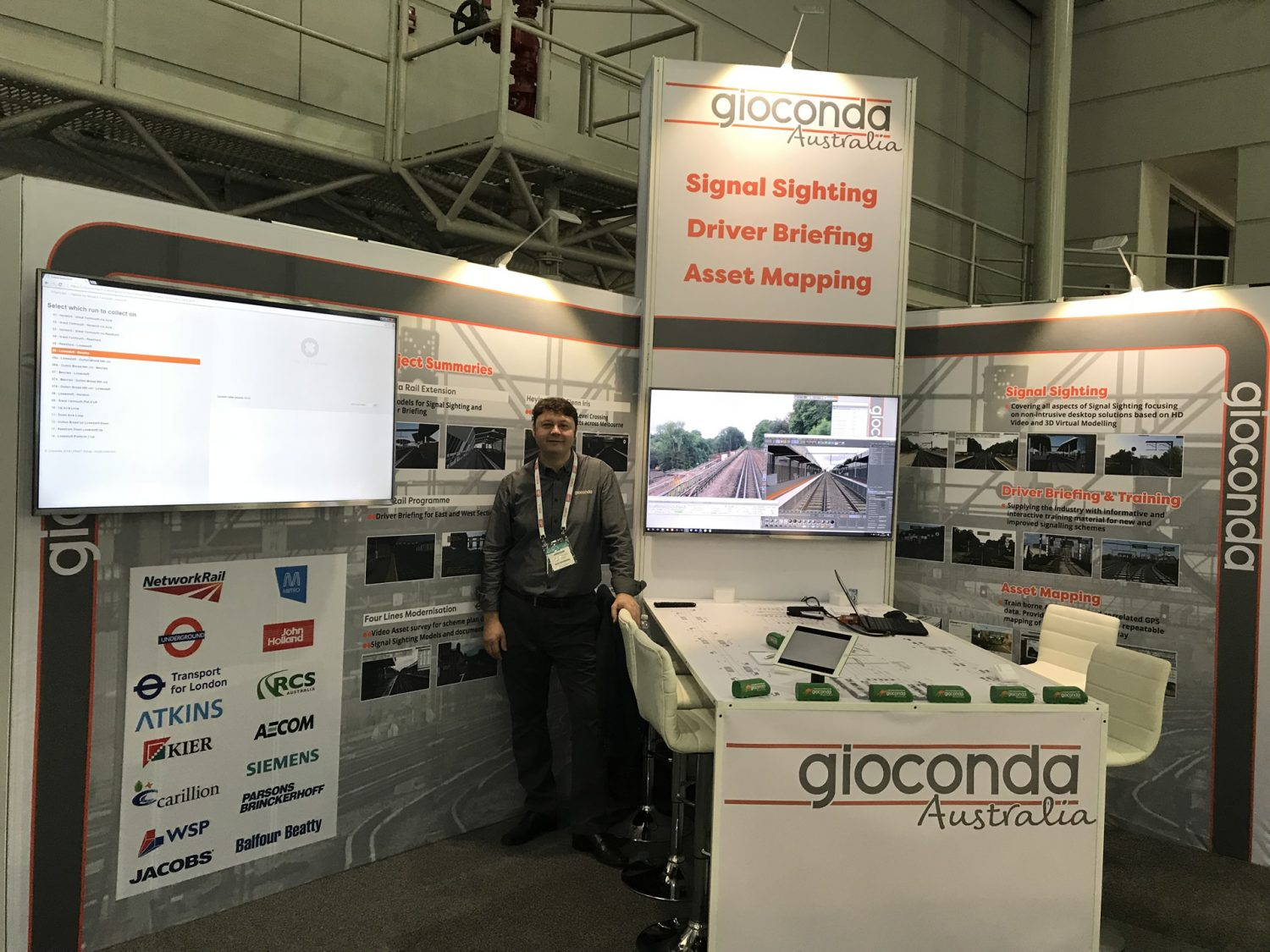 Gioconda at AusRail 2017 ready to go